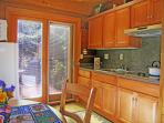 A perfect kitchen for the two of you...great for homey meals away from the crowds.