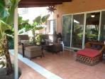 Private rear patio