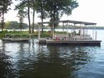 view for swim dock
