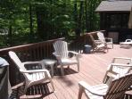 Deck lounging accessible from Great Room and Hot Tub area at end of deck