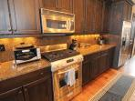 Great kitchen with stainless steel appliances and plenty of room to prepare meals