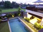 View from Balcony of private upper deck, garden and views