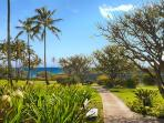 Grounds & alkway to Poipu Beach