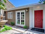 Enter the home through a tranquil courtyard