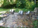 35 x 35 patio with FirePit & BBQ, lots of seating