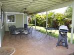 Lower covered patio stays cool