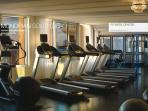 Fitness Center overlooking the Pool