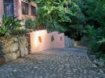 Cobblestone driveway - drive right to entrance of main house