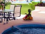Priavte jacuzzi on terrace