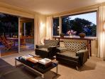Eliza's living room opens to the pool and garden - perfect entertaining space.