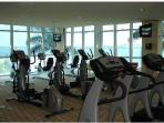 Gym with a view of the bay