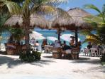 Eat out at one of the many beach restaurants in nearby Mahahual