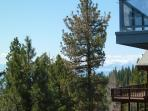 Looking toward Lake Tahoe from the middle floor wraparound deck.