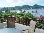 Imagine yourself enjoying morning coffee while taking in this balcony view