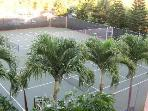 One of 6 tennis courts