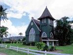 Historic church in Hanalei just 2 miles away