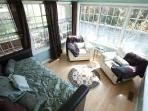 A sunroom and private deck await you in the Master Suite