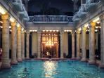 Treat yourself to the healing thermal waters at the Gellert Spa, a short 15-minute walk away.