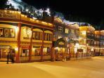 Silver Star village by night.