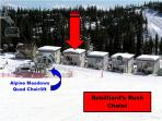True ski-to-your-door access and the Alpine Meadows chairlift is just a few steps from the house.