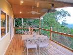 Main Level Covered Porch Dining Area