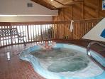 The large hot tub/jacuzzi/spa is just down the hall.