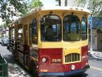 Ride the trolley from Clematis Street to CityPlace