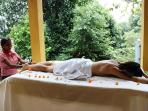 Relaxing massage available from a qualified Ayurvedic doctor