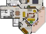 Our floor plan - note the great balcony for a great view!