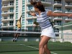 Enjoy a game of tennis on our 2 courts. We provide the rackets - you the talent!