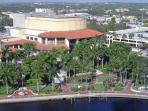 Looking down at the river and the Broward Center