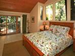 Master Bedroom Walks Out to Private Covered Deck Overlooking Stream