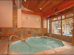 Hot Tub Inside at Trails End