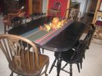 Dining Table with 2 leafs seats 10