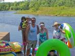 tubing on the Black River