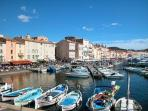 St tropez by boat or driving 90 mn