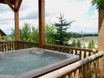 Highest point at Snowshoe.  Private outdoor hot tub.