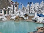 Indoor and Outdoor Hot Tubs and Pools at Split Rock. Kids love it.