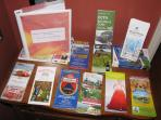 Guidebooks and brochures or you to use