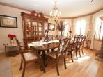 Dining Room - seats 14; Wedgewood China; Silverwear