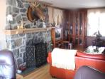 Living Room - Marvin the Moose over Gas Fireplace