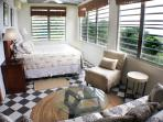 Upstairs king bedroom has unbelievable views with windows on 3 sides
