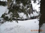 Front of House in Winter