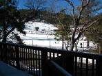 view of slopes from front deck