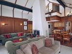 Living/dining room and loft