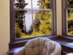 Window seats with a view in the living area.