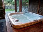 Fantastic outdoor covered hot tub!