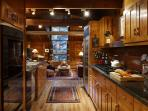 Fully equipped galley kitchen with open sight lines