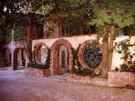 Entrance to the Tuscan Villa