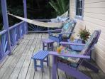 Deck with hammock